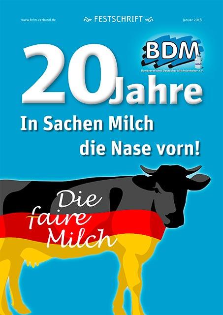"""Titelblatt der Festschrift """"20 Jahre BDM"""""""